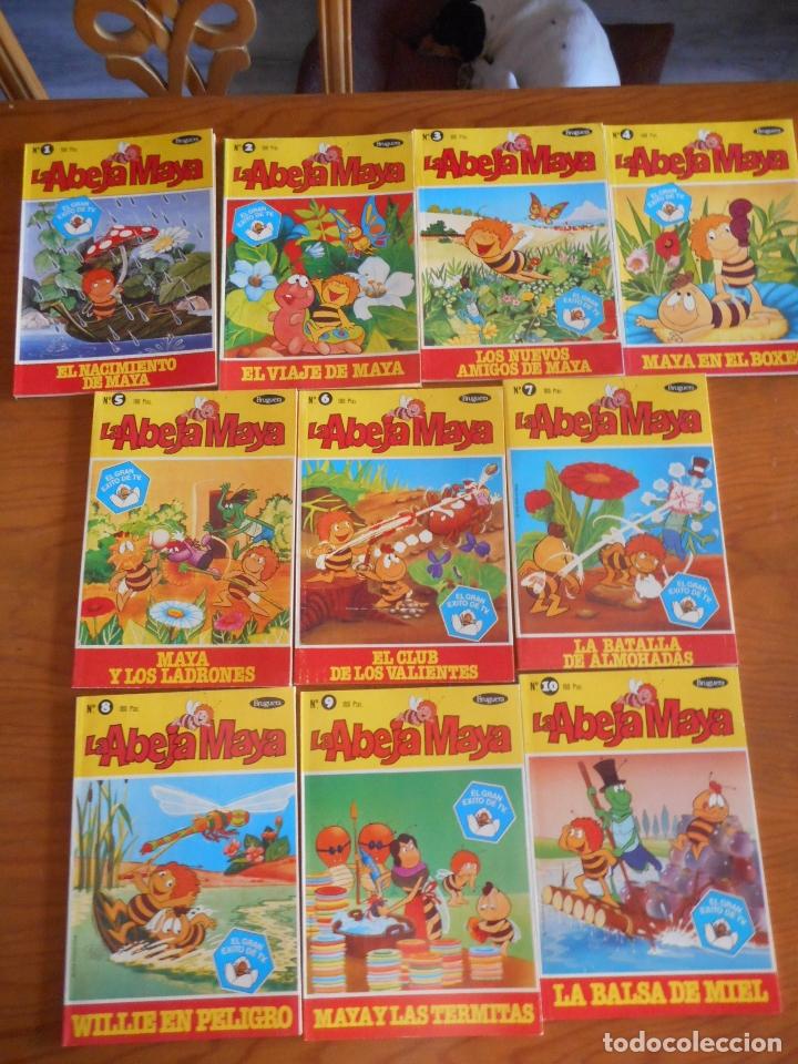 LA ABEJA MAYA. COLECCIÓN COMPLETA DE 10 EJEMPLARES. ALBUM BRUGUERA. AÑO 1978. NUEVOS, SIN USO (Tebeos y Comics - Novaro - El Conejo de la Suerte)