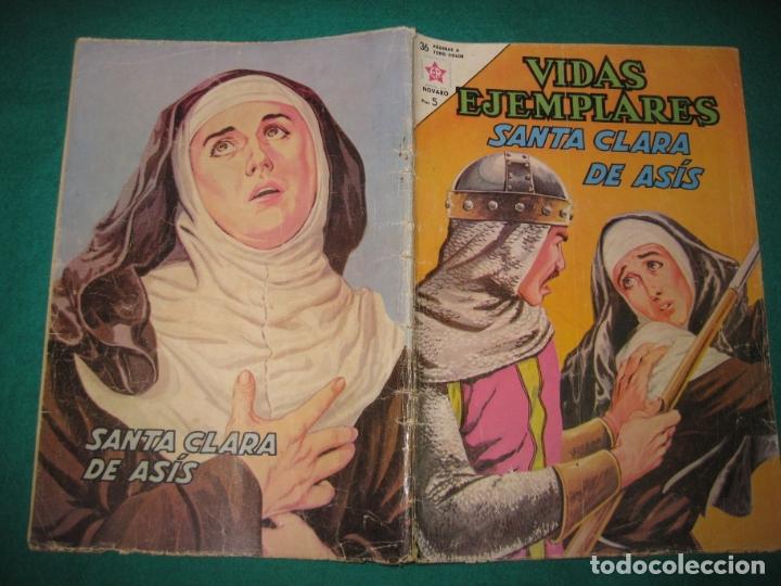 VIDAS EJEMPLARES Nº 160. SANTA CLARA DE ASIS. EDITORIAL NOVARO 1963. (Tebeos y Comics - Novaro - Vidas ejemplares)
