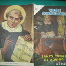 Tebeos: VIDAS EJEMPLARES Nº 121. SANTO TOMAS DE AQUINO. EDITORIAL NOVARO 1962.. Lote 178582638