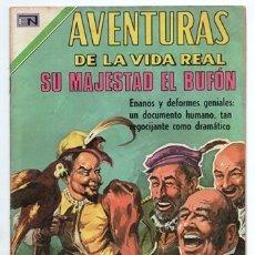 Tebeos: AVENTURAS DE LA VIDA REAL # 189 NOVARO 1971 SU MAJESTAD EL BUFON CHICOT LUIS XII ENRIQUE II MATHURIN. Lote 178631000