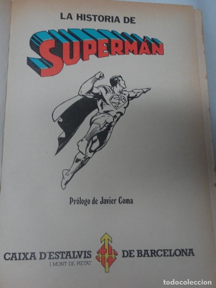 Tebeos: COMIC LA HISTORIA DE SUPERMAN CAIXA DESTALVIS DE BARCELONA NOVARO 1979 , VER FOTOS - Foto 3 - 178640210