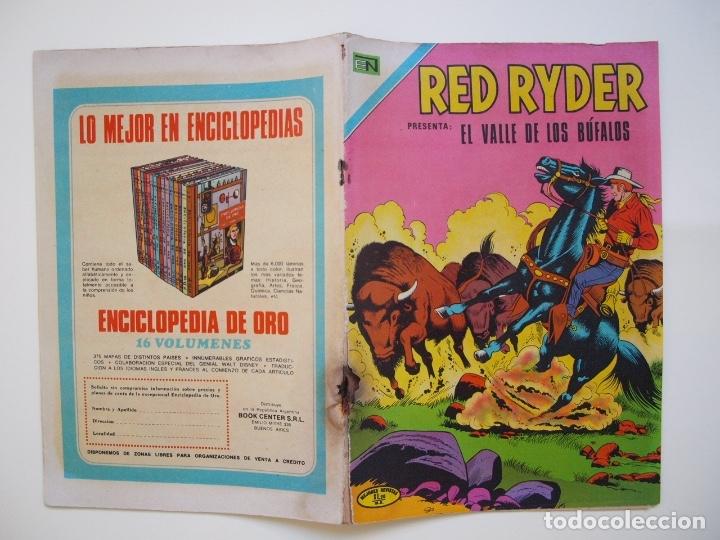 Tebeos: RED RYDER Nº 263 - EL VALLE DE LOS BÚFALOS - NOVARO 1971 - Foto 6 - 178681981