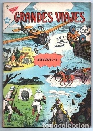 GRANDES VIAJES ALBUM # 1 NOVARO 1960´S 96 PAG LIVINGSTONE EN AFRICA LINDBERGH MARCO POLO IMPECABLE (Tebeos y Comics - Novaro - Grandes Viajes)