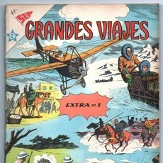 Tebeos: GRANDES VIAJES ALBUM # 1 NOVARO 1960´S 96 PAG LIVINGSTONE EN AFRICA LINDBERGH MARCO POLO IMPECABLE. Lote 178829310