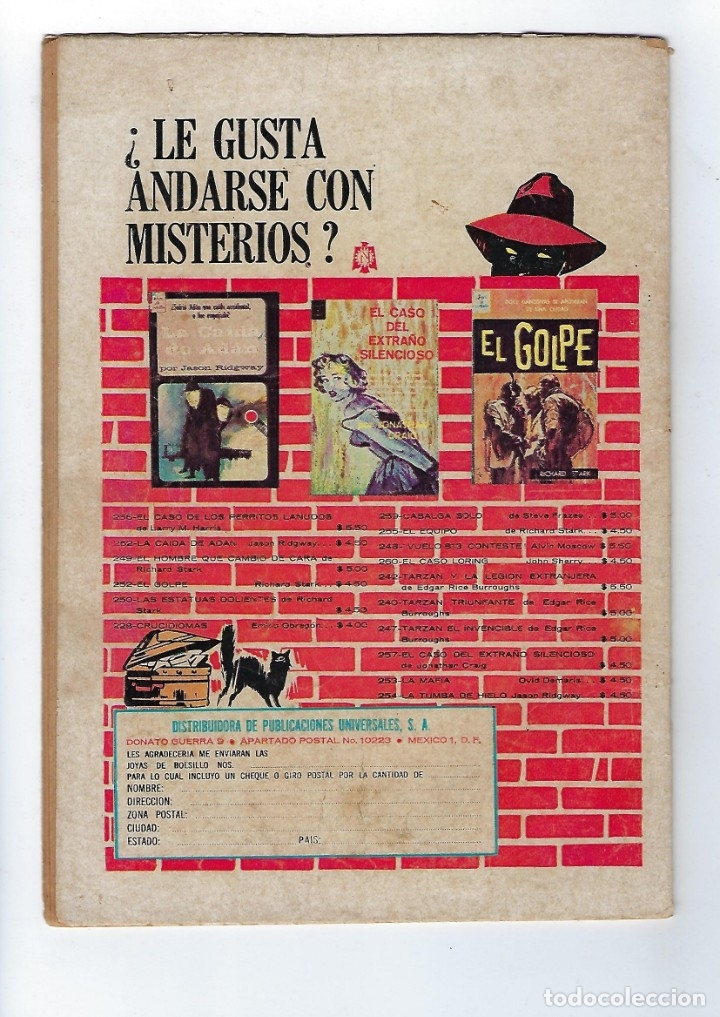 Tebeos: TITANES PLANETARIOS - AÑO XIII - Nº 228, 15 DE MARZO DE 1966 *NOVARO MÉXICO - EDICIONES RECREATIVAS* - Foto 2 - 178846397