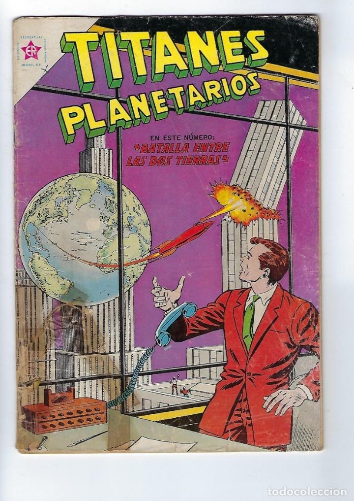 TITANES PLANETARIOS - AÑO X - Nº 153, 1º DE FEBRERO DE 1963 *NOVARO MÉXICO - EDICIONES RECREATIVAS* (Tebeos y Comics - Novaro - Otros)