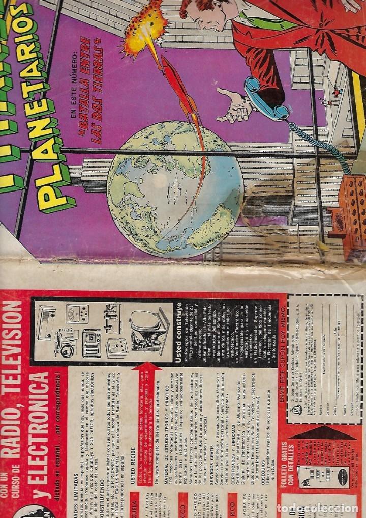 Tebeos: TITANES PLANETARIOS - AÑO X - Nº 153, 1º DE FEBRERO DE 1963 *NOVARO MÉXICO - EDICIONES RECREATIVAS* - Foto 3 - 178851932