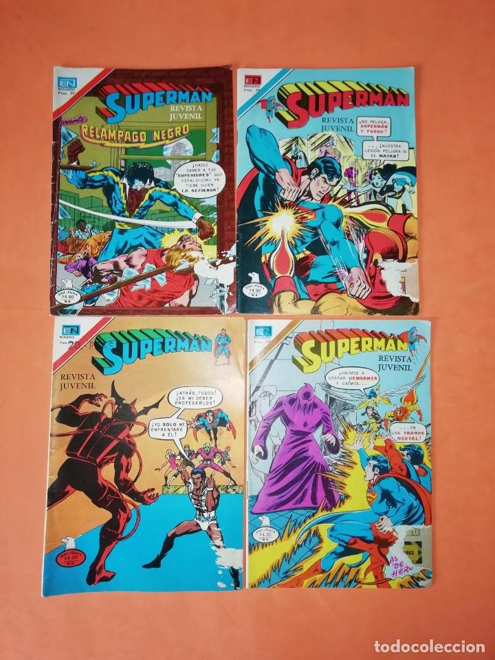 SUPERMAN. NOVARO.1979. Nº 2- 1111. 1167.1199 Y 1211. RASGUÑOS EN PORTADA. (Tebeos y Comics - Novaro - Superman)
