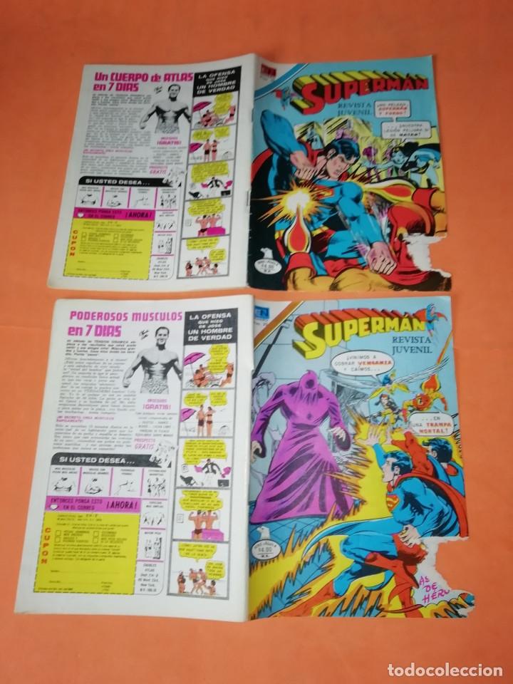 Tebeos: SUPERMAN. NOVARO.1979. Nº 2- 1111. 1167.1199 Y 1211. RASGUÑOS EN PORTADA. - Foto 2 - 179948075