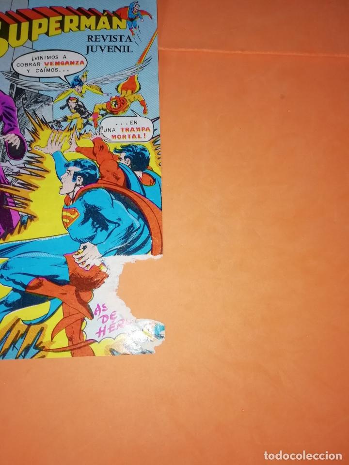 Tebeos: SUPERMAN. NOVARO.1979. Nº 2- 1111. 1167.1199 Y 1211. RASGUÑOS EN PORTADA. - Foto 4 - 179948075