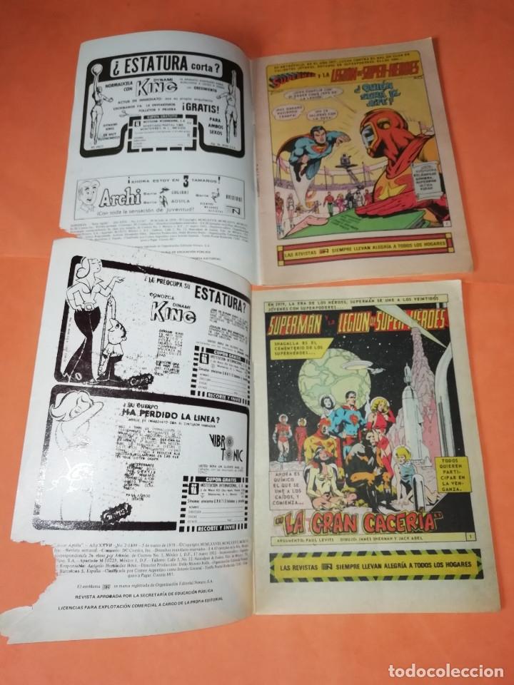 Tebeos: SUPERMAN. NOVARO.1979. Nº 2- 1111. 1167.1199 Y 1211. RASGUÑOS EN PORTADA. - Foto 5 - 179948075