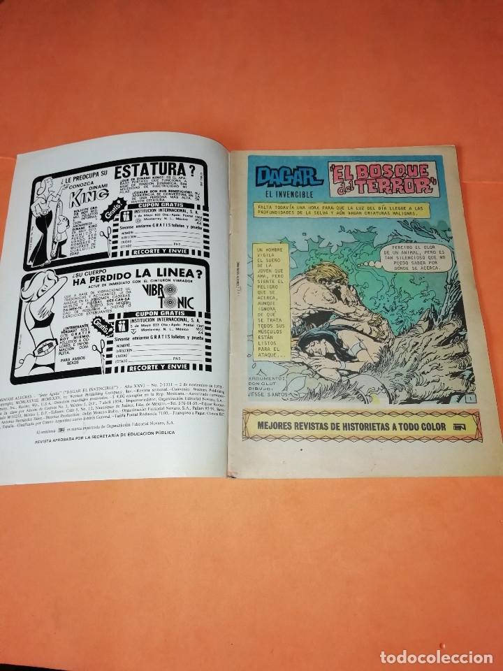 Tebeos: DAGAR EL INVENCIBLE Y JOHN CARTER. DOMINGOS ALEGRES NOVARO. Nº 2-1303 Y 2-1311 - Foto 3 - 179951128
