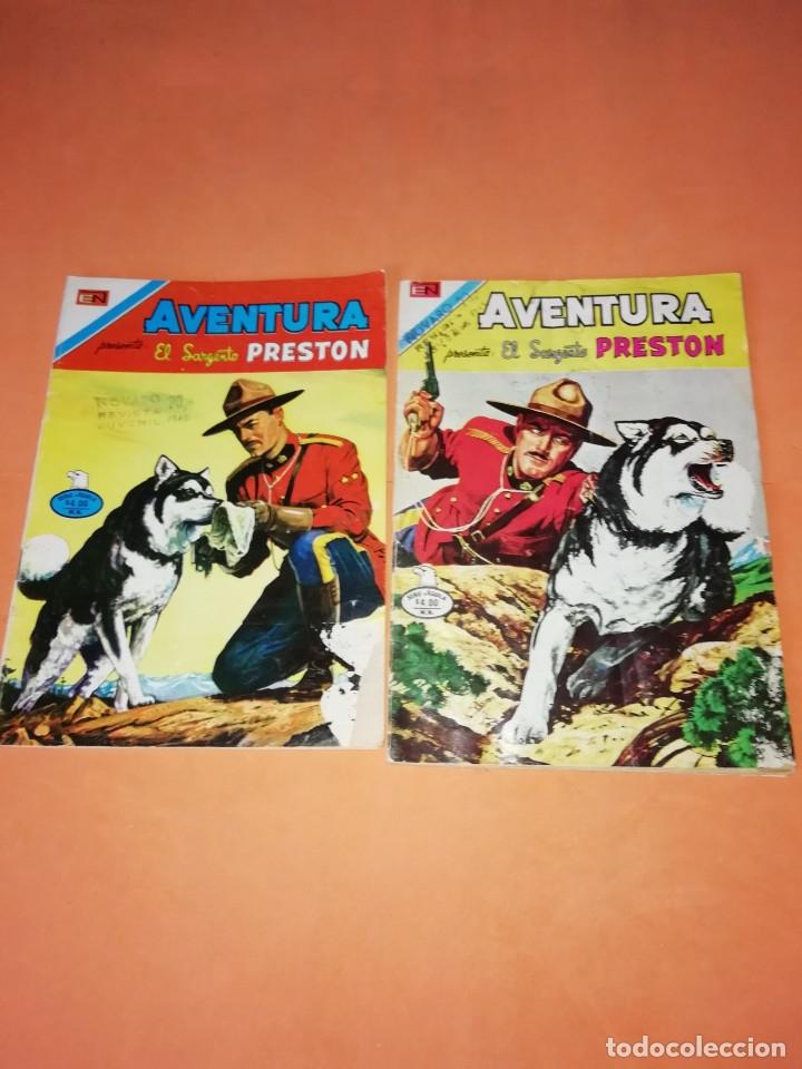 EL SARGENTO PRESTON. NOVARO. AVENTURA. Nº 2 - 879 Y 891. VER FOTOS (Tebeos y Comics - Novaro - Aventura)