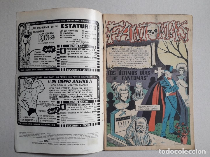 Tebeos: Fantomas n° 3-80 serie Avestruz - original editorial Novaro - Foto 2 - 180159232