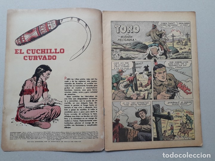 Tebeos: Domingos alegres n° 246 - Toro - original editorial Novaro - Foto 2 - 181176103