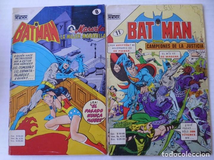 BATMAN - LOTE DE 13 CÓMICS - DE EDITORIAL CINCO NOVARO COLOMBIA- ENVÍO GRATIS POR DHL- SERIE AGUILA (Tebeos y Comics - Novaro - Batman)