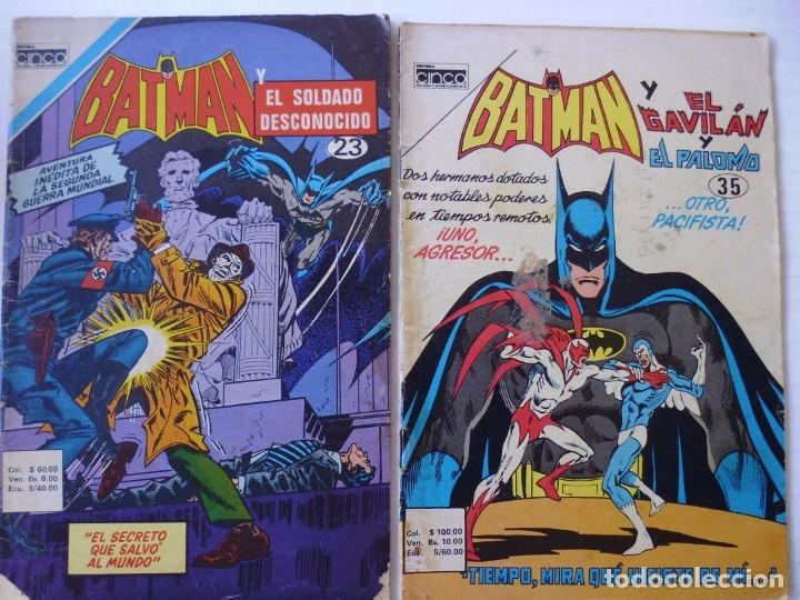 Tebeos: BATMAN - LOTE DE 13 CÓMICS - DE EDITORIAL CINCO NOVARO COLOMBIA- ENVÍO GRATIS POR DHL- SERIE AGUILA - Foto 5 - 181496755