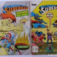 Tebeos: SUPERMAN - LOTE DE 17 CÓMICS- EDITORIAL CINCO NOVARO COLOMBIA- ENVÍO GRATIS POR DHL- SERIE AGUILA. Lote 181498353