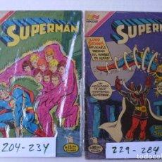 Tebeos: SUPERMAN - LOTE DE 8 CÓMICS - SERIE AGUILA - EDITORIAL NOVARO EPUCOL COLOMBIA. Lote 181499761
