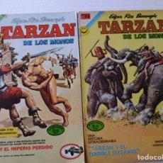 Tebeos: TARZAN DE LOS MONOS - LOTE DE 12 CÓMICS ORIGINALES DE EDITORIAL NOVARO MEXICO. Lote 181505466