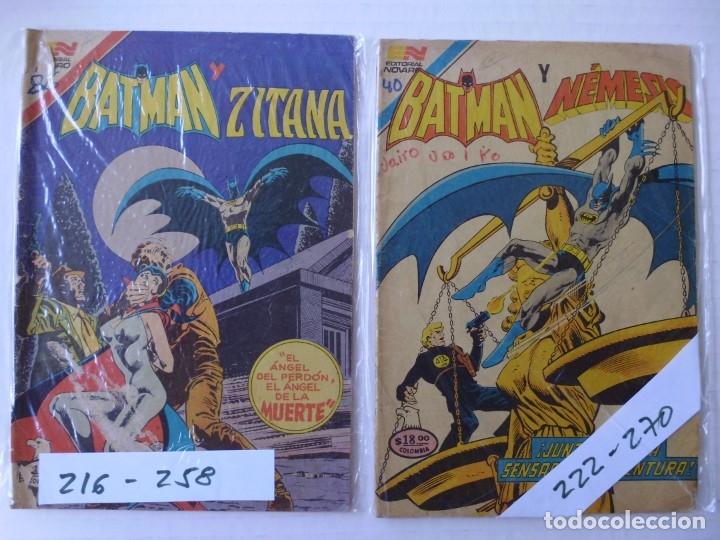 BATMAN - LOTE DE 9 CÓMICS - SERIE AGUILA - EDITORIAL NOVARO EPUCOL COLOMBIA (Tebeos y Comics - Novaro - Batman)