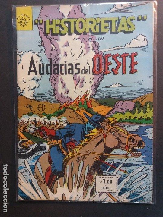 HISTORIETAS AUDACIAS DEL OESTE Nº 503 NOVARO AÑO 1962 (Tebeos y Comics - Novaro - Otros)