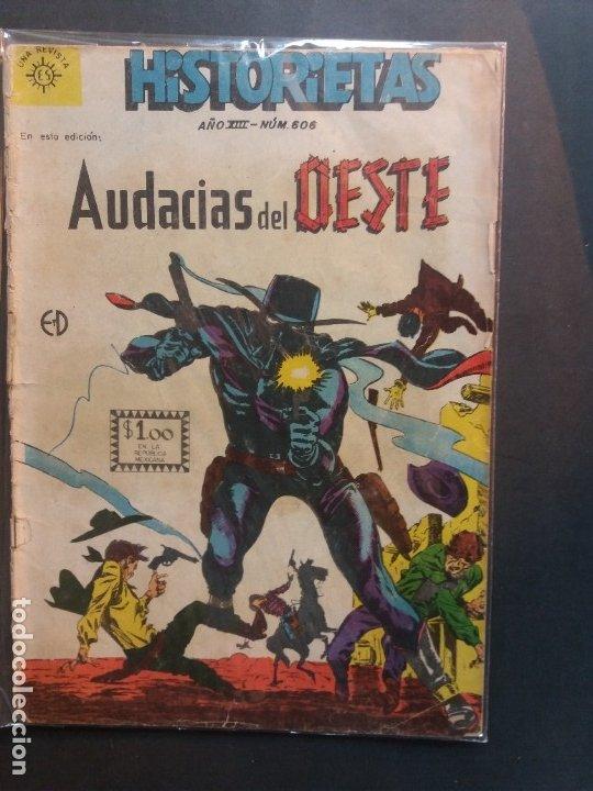 HISTORIETAS AUDACIAS DEL OESTE Nº 606 NOVARO AÑO 1962 (Tebeos y Comics - Novaro - Otros)