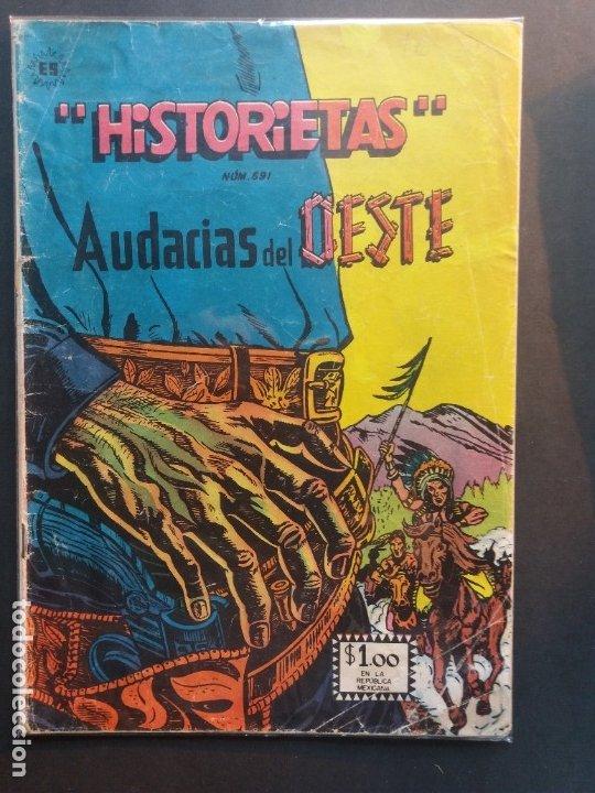 HISTORIETAS AUDACIAS DEL OESTE Nº 691 NOVARO AÑO 1962 (Tebeos y Comics - Novaro - Otros)