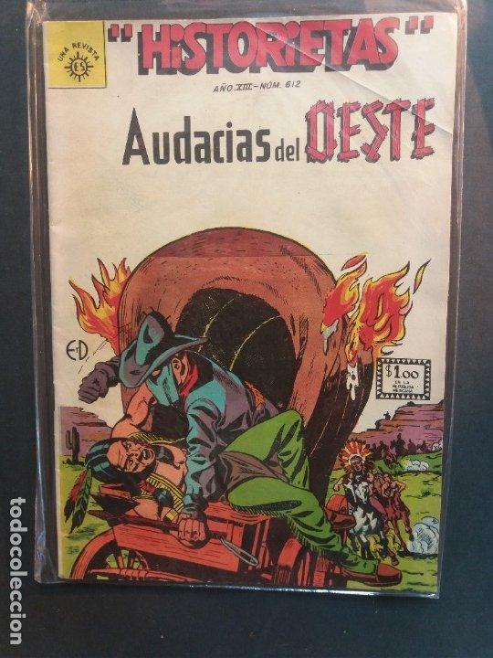 HISTORIETAS AUDACIAS DEL OESTE Nº 612 NOVARO AÑO 1962 (Tebeos y Comics - Novaro - Otros)