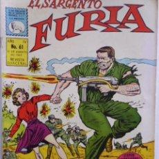 Tebeos: EL SARGENTO FURIA - LOTE DE 10 CÓMICS DE EDITORIAL LA PRENSA MEXICO. Lote 182044240