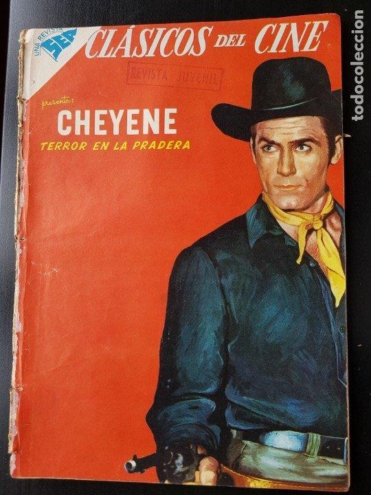TEBEO / CÓMIC 1958 ORIGINAL CLÁSICOS DEL CINE N 25 REVISTA SEA NOVARO MUY DIFÍCIL CHEYENE (Tebeos y Comics - Novaro - Otros)