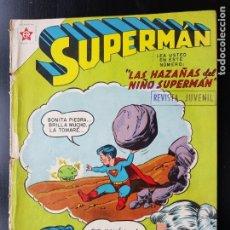 Tebeos: TEBEO / CÓMIC 1958 ORIGINAL SUPERMAN N 143 REVISTA SEA NOVARO MUY DIFÍCIL FLECHA VERDE LAS HAZAÑAS D. Lote 182300508