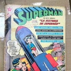 Tebeos: SUPERMÁN 332: LA HISTORIA DE SUPERMÁN, 1962, NOVARO. Lote 182330270