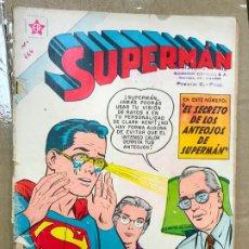 Tebeos: SUPERMAN NOVARO NÚMERO 224 EL SECRETO DE LOS ANTEOJOS DE SUPERMAN 1960. Lote 182330407