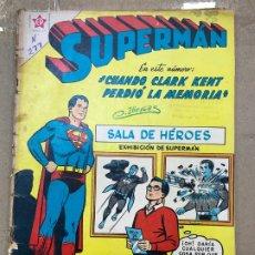 Tebeos: SUPERMAN Nº 277 - CUANDO CLARK KENT PERDIO LA MEMORIA - ERSA ED. RECREATIVAS 1961 - NOVARO. Lote 182331356