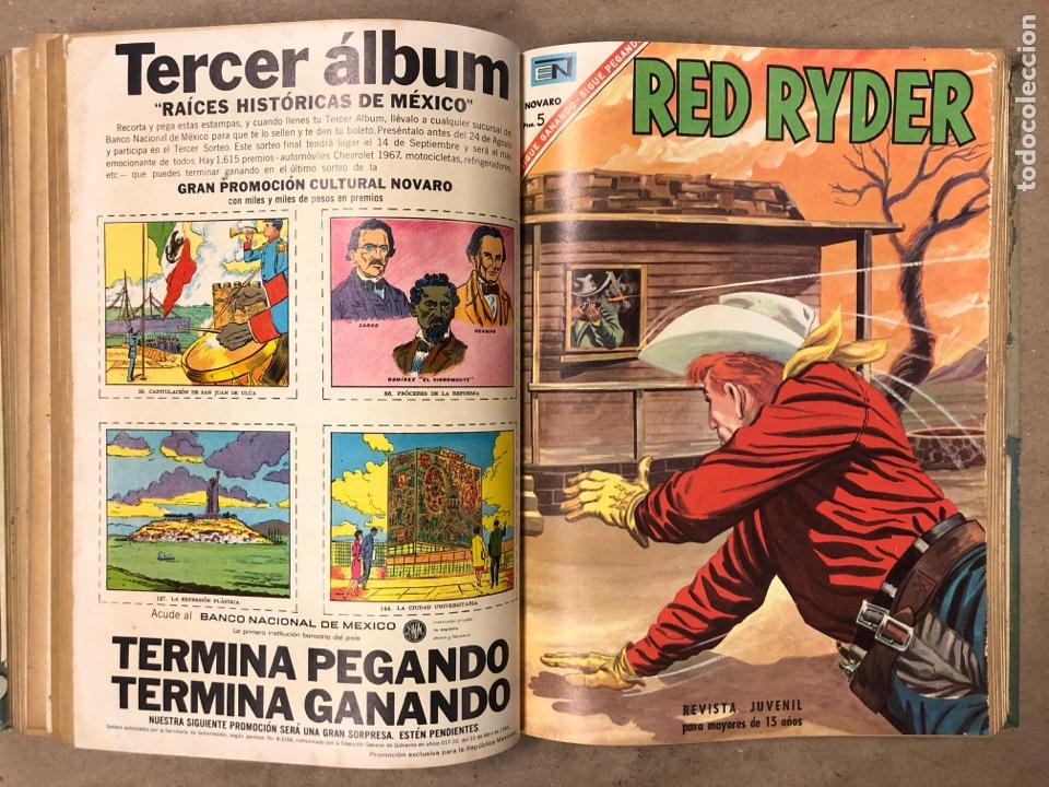 Tebeos: TOMO CON 14 TEBEOS ENCUADERNADOS DE EDITORIAL NOVARO (ROY ROGERS, HOPALONG, TOMAJAUK, RED RYDER) - Foto 12 - 182333256