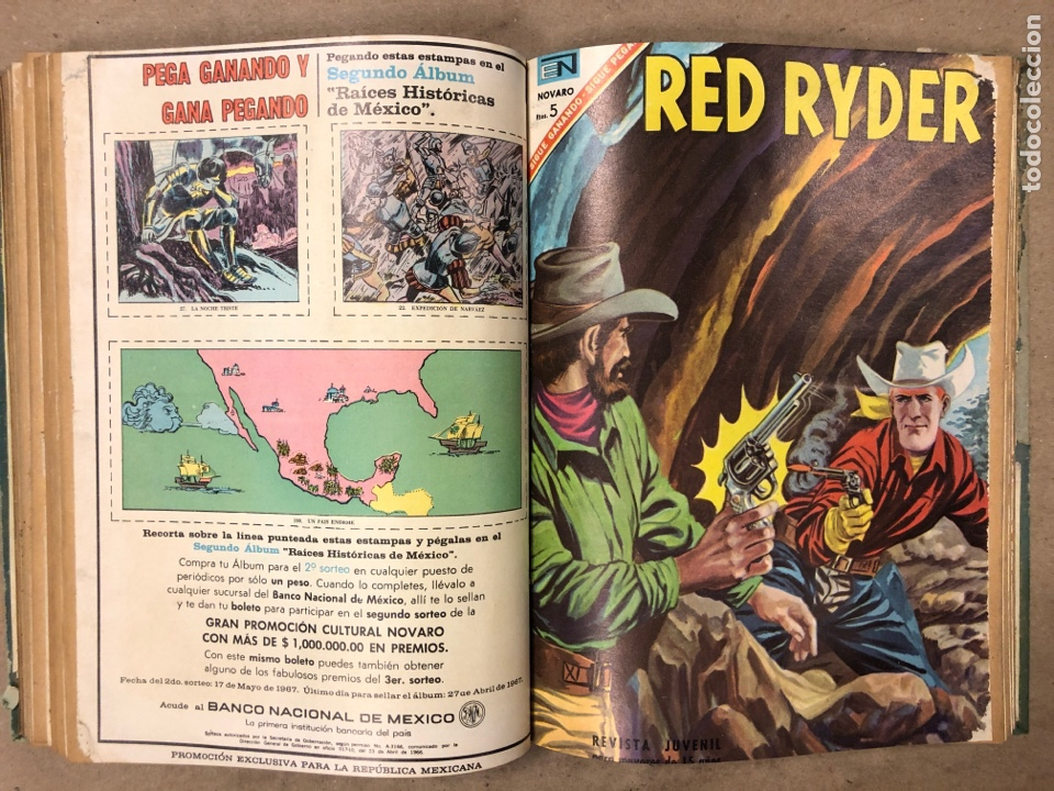 Tebeos: TOMO CON 14 TEBEOS ENCUADERNADOS DE EDITORIAL NOVARO (ROY ROGERS, HOPALONG, TOMAJAUK, RED RYDER) - Foto 13 - 182333256