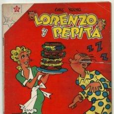 Tebeos: LORENZO Y PEPITA N° 106 TEBEO ANTIGUO COMIC REVISTA EDITORIAL NOVARO 1958. Lote 182639207