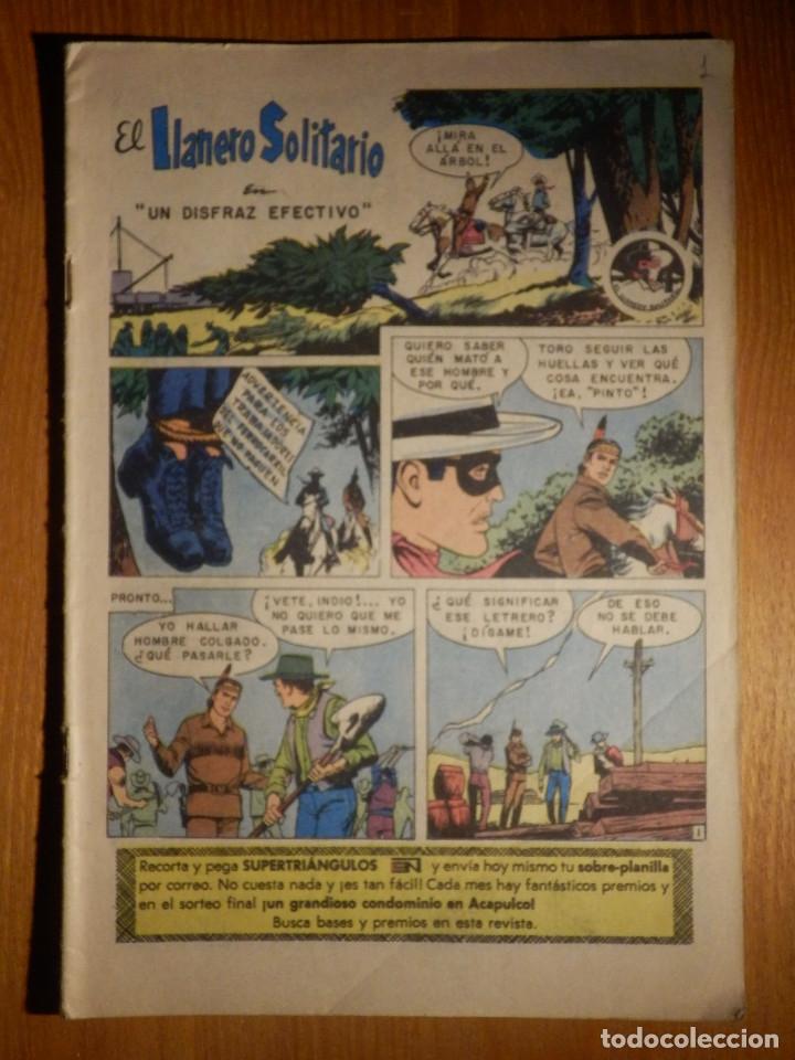 EL LLANERO SOLITARIO - UN DISFRAZ EFECTIVO Y JOVEN HALCÓN - Nº 100 - 1961 - NOVARO (Tebeos y Comics - Novaro - El Llanero Solitario)