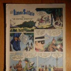 Tebeos: EL LLANERO SOLITARIO - UN DISFRAZ EFECTIVO Y JOVEN HALCÓN - Nº 100 - 1961 - NOVARO. Lote 182694320