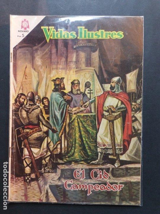 VIDAS ILUSTRES Nº 117 EL CID CAMPEADOR DIFÍCIL MUY BUEN ESTADO (Tebeos y Comics - Novaro - Vidas ilustres)