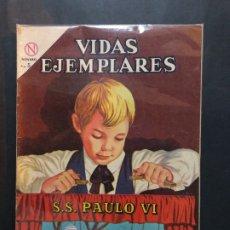 Tebeos: VIDAS EJEMPLARES 170 S.S. PAULO VI MUY BUEN ESTADO. Lote 182876537