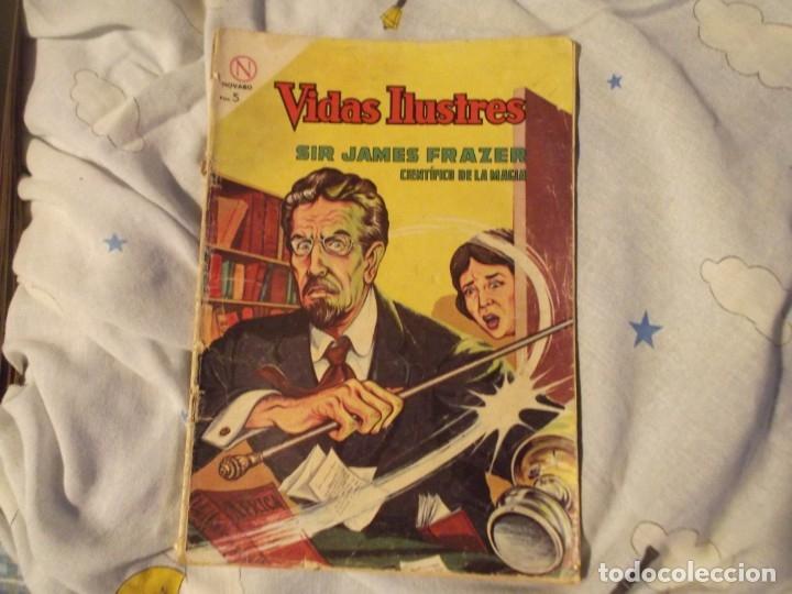 NOVARO. SIR JAMES FRAZER 1964 (Tebeos y Comics - Novaro - Vidas ilustres)