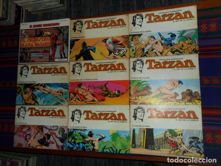 TARZÁN EL REY DE LA JUNGLA 1 2 3 4 5 6 7 8 COMPLETA. NOVARO 1979. REGALO EL HOMBRE ENMASCARADO IV BO (Tebeos y Comics - Novaro - Tarzán)