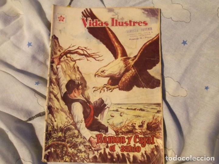 NOVARO.EDICIONES RECREATIVAS .RAMON Y CAJAL EL SABIO 1960 (Tebeos y Comics - Novaro - Vidas ilustres)