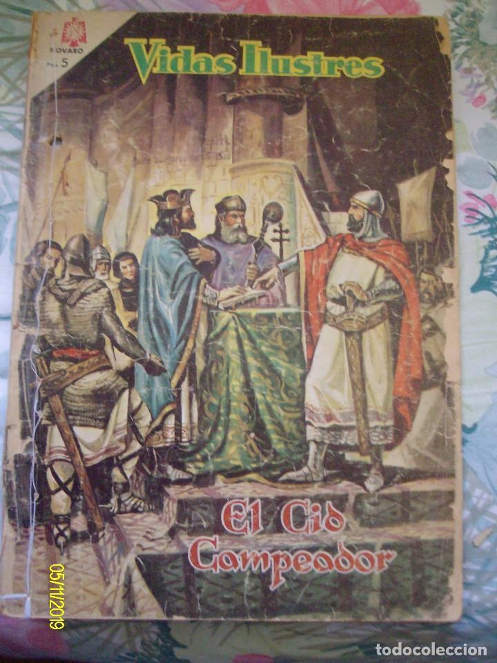 VIDAS ILUSTRES Nº 117 EL CID CAMPEADOR EDITORIAL NOVARO (Tebeos y Comics - Novaro - Vidas ilustres)