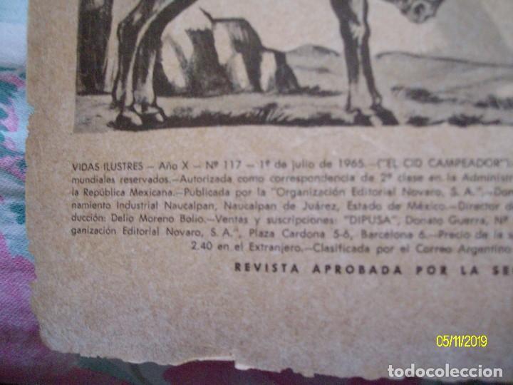 Tebeos: VIDAS ILUSTRES Nº 117 EL CID CAMPEADOR EDITORIAL NOVARO - Foto 2 - 183609610