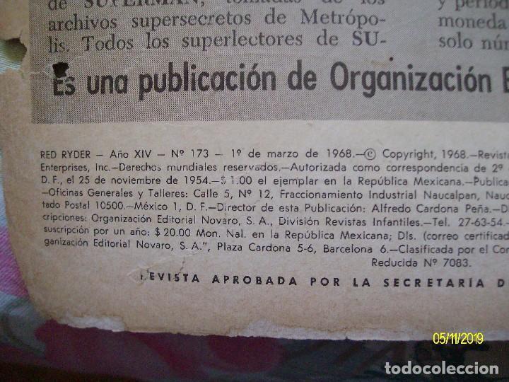 Tebeos: RED RYDER Nº 173 EDITORIAL NOVARO - Foto 2 - 183699718