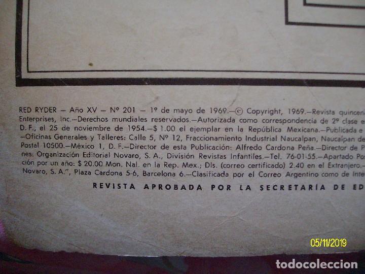 Tebeos: RED RYDER Nº 201 EDITORIAL NOVARO - Foto 2 - 183699896