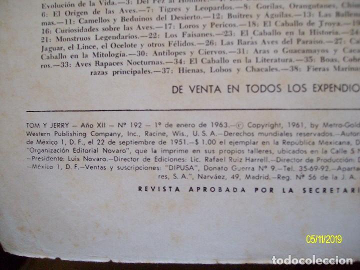 Tebeos: TOM Y JERRY Nº 192 EDITORIAL NOVARO - Foto 2 - 183700777